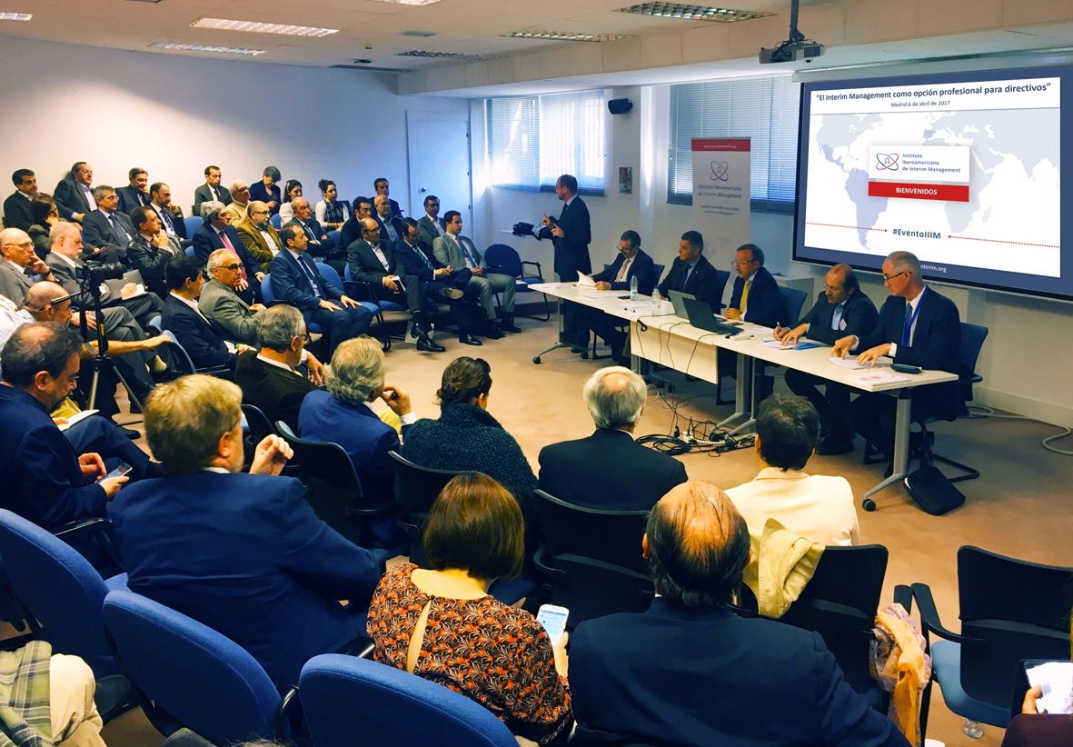 Evento corporativo Instituto Iberoamericano de Interim Management