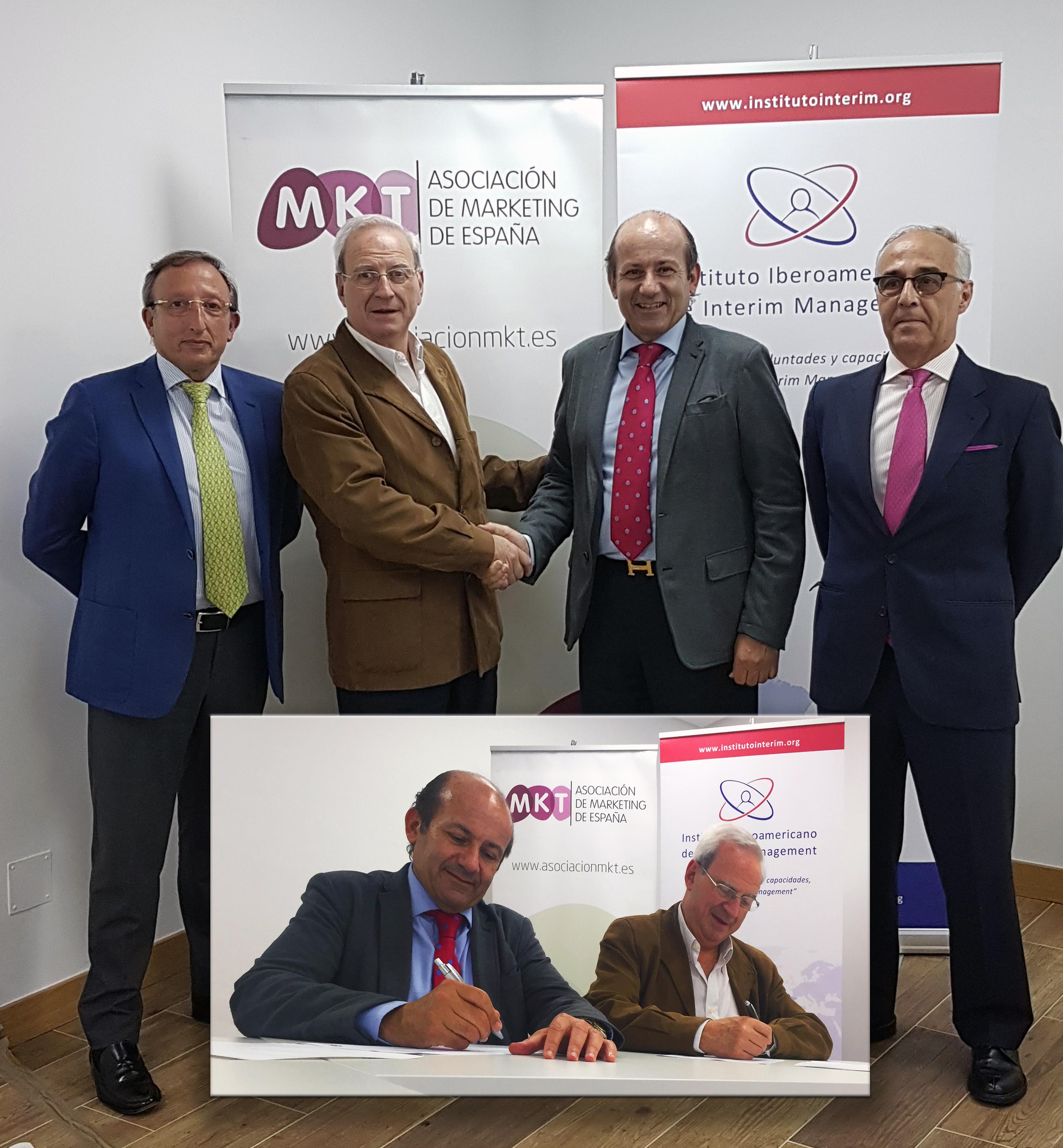 Acuerdo de colaboración MKT Asociación de Marketing de España & Instituto Iberoamericano de Interim Management