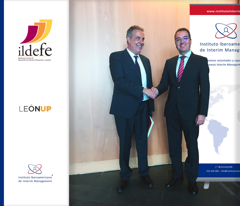 Alianza estratégica entre el Instituto Iberoamericano de Interim Management y el Instituto Leonés de Desarrollo Económico, formación y empleo, ILDEFE.